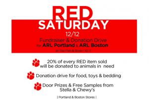 RED Saturday Dec. 12/12 for Animals in Need